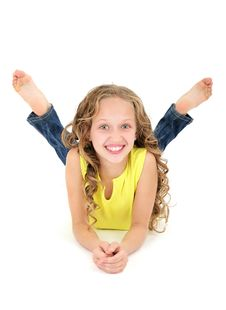 Free Beautiful Teenage Girl Laughing Royalty Free Stock Photos - 16364148