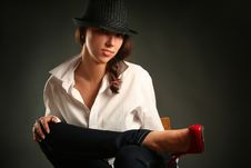 Free Red Shoe Royalty Free Stock Photography - 16364327