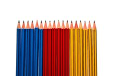 Free Pencils On White Background Stock Photo - 16364490