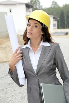 Free Woman On Construction Site Stock Photos - 16365123