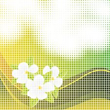 Free Abstract Background With Flowers Royalty Free Stock Image - 16365176