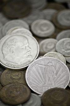 Free Soviet Obsolete Coins Stock Photo - 16365930
