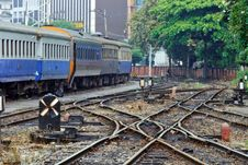 Free Mess Up Of Crossing Railway Track Junction Royalty Free Stock Image - 16366146