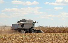 Free Combine Picking Corn Royalty Free Stock Image - 16366266