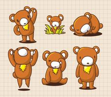 Free Cute Cartoon Bear Stock Images - 16366524
