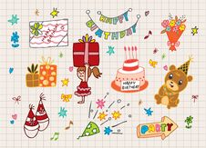 Free Happy Birthday Icon Stock Photography - 16366542