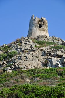 Free Spanish Watchtower In Sardinia Royalty Free Stock Photography - 16366587