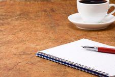Free Coffee And Binder Pad Stock Photo - 16367140