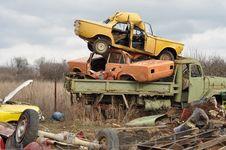 Free Scrap Cars And Trucks Stock Photo - 16367180