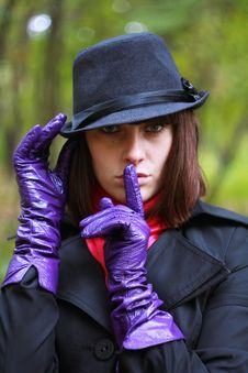 Free Girl In Glove And Hat Stock Image - 16367331