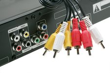Free DVD Video Jack With Cables Royalty Free Stock Image - 16367566