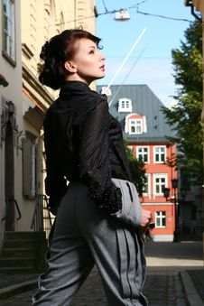 Free Attractive Lady At Old Town Royalty Free Stock Images - 16367839