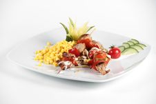 Free Mexican Salad On A White Plate Royalty Free Stock Photography - 16367847