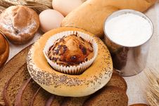 Bakery Products And Eggs Stock Photography