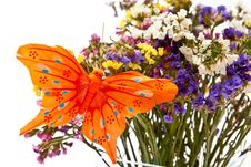 Free Flowers And Butterfly Royalty Free Stock Photo - 16368855