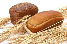 Free Bread With Wheat And Ears Royalty Free Stock Photo - 16369475