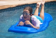 Raft Girl Royalty Free Stock Photography
