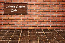 Free Coffee Cafe As Brickwall Pattern Royalty Free Stock Photos - 16369588