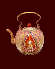 Thai Vase 03 Stock Image