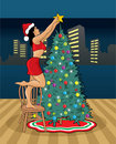 Free Sexy Mrs. Claus And Christmas Tree Stock Images - 16374994