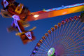Free Ferris Wheel And Carnival Ride Royalty Free Stock Photo - 16375235