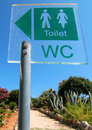 Free Toilet Sign Stock Photography - 16375412