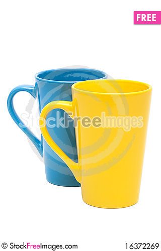 Free Yellow And Blue Mug Royalty Free Stock Images - 16372269
