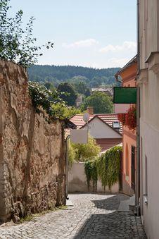 Free Street In Tyn Nad Vltavou Royalty Free Stock Images - 16370829