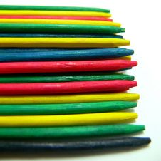 Free Colored Pick-up-sticks Royalty Free Stock Photo - 16370885