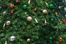 Free Christmas Ornaments On A Tree Royalty Free Stock Image - 16371186
