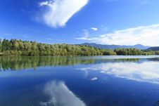 Free Blue Lake In Autumn Royalty Free Stock Photos - 16371998