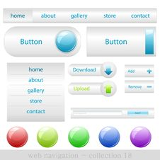 Free Web Buttons Royalty Free Stock Photo - 16372185