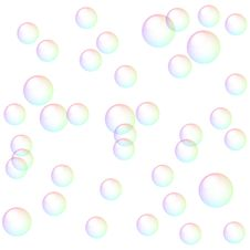 Free Bright Soap Bubbles Royalty Free Stock Images - 16372369