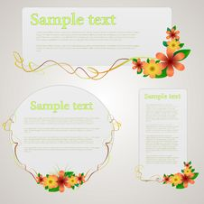 Free Beautiful Floral Cards Stock Image - 16372381