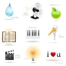 Free Vector Icons For Web Royalty Free Stock Photos - 16372398