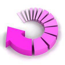 Free Pink Process Arrow Stock Photos - 16372503