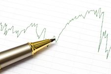 Background Of Business Graph Royalty Free Stock Photo