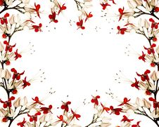 Free Red And Black Butterfly Flower Frame Stock Photo - 16372690