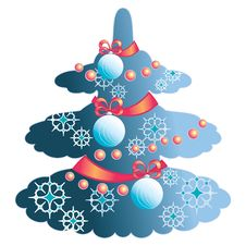 Elegant Christmas Tree Royalty Free Stock Photography