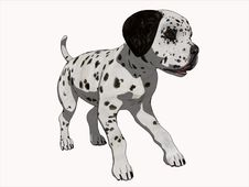 Free 3D Cartoon Render Dalmation Puppy Royalty Free Stock Photo - 16372865