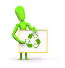 Free Recycle Man Stock Images - 16372884