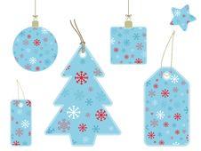 Snowflake Gift Tags Stock Photography