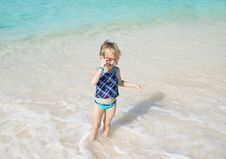 Free Child Playing In The Sea Stock Image - 16373351