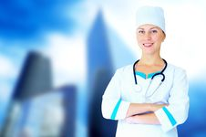 Free Doctor With Stethoscope Stock Photos - 16373403