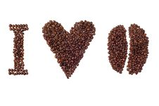 Free I Love Coffee Sign Stock Photo - 16373410