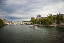 Free Seine River Against A Dramatic Sky Stock Images - 16373454