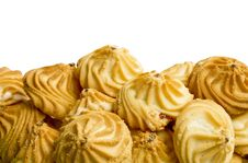 Free Sweet Cookies Isolated Over White Royalty Free Stock Photography - 16373527