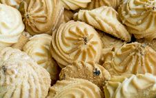 Delicious Cookies Close-up Background Stock Images