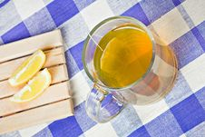 Free Green Tea Hot Drink And Lemon Stock Photos - 16373703