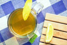 Free Green Tea Hot Drink And Lemon Royalty Free Stock Photo - 16373745